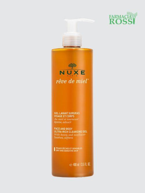 Gel Detergente Pelli Disidratate Viso e Corpo Rêve de Miel Nuxe | FARMACIA ROSSI