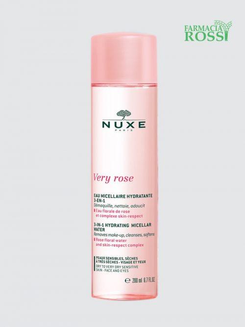 Acqua Micellare 3 In 1 Pelli Sensibili Very Rose 200ml Nuxe   Farmacia Rossi