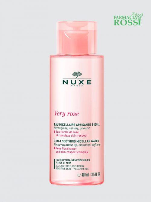 Acqua Micellare Lenitiva 3 In 1 Very Rose 400ml Nuxe | Farmacia Rossi