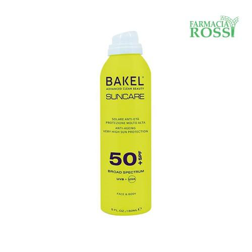 Solare Spray Viso Corpo Spf 50+ 150ml Bakel | Farmacia Rossi